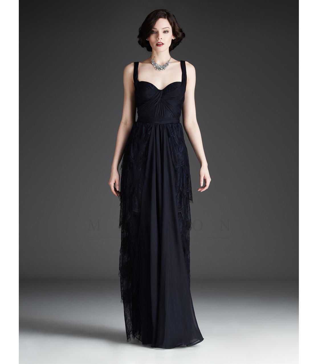 VM889 Mignon 2013 Fall Dresses - Midnight Lace Gown from Unique Vintage. Saved to different.