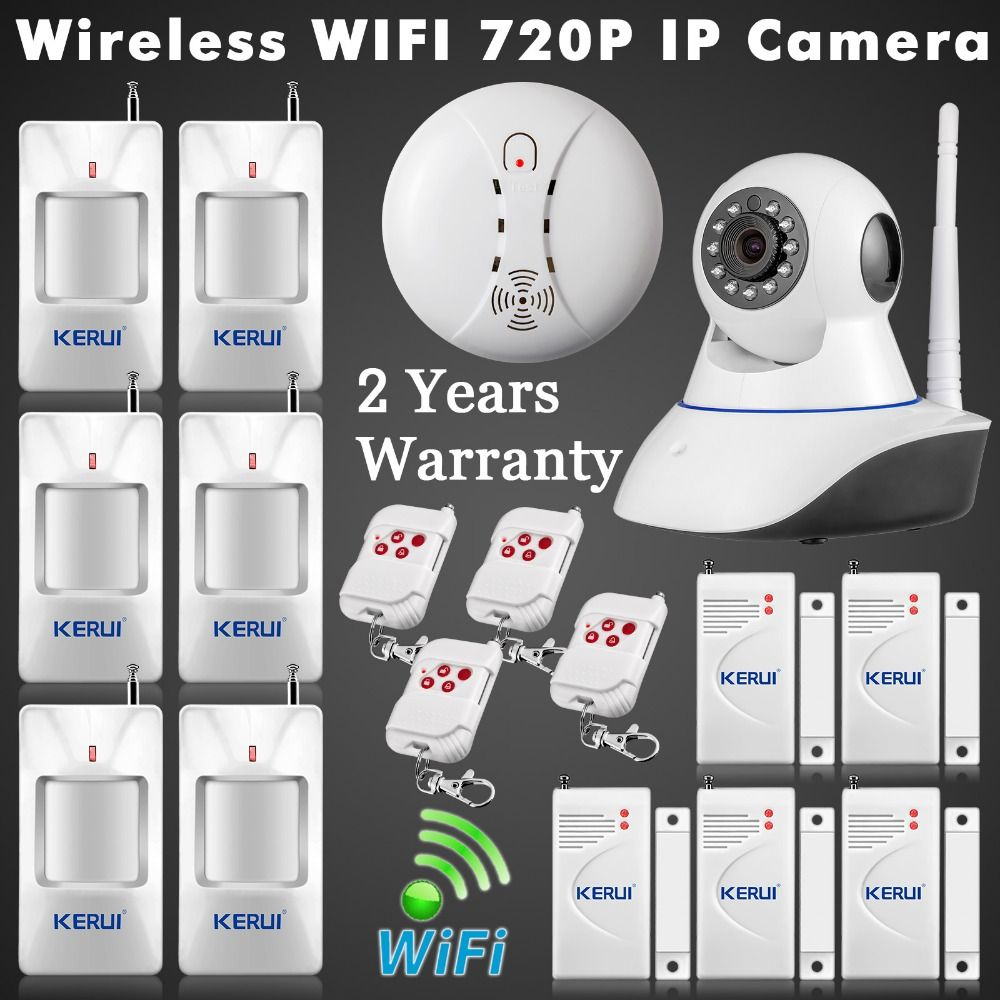 ISO Android APP Remote Control Wifi IP Camera Alarm System