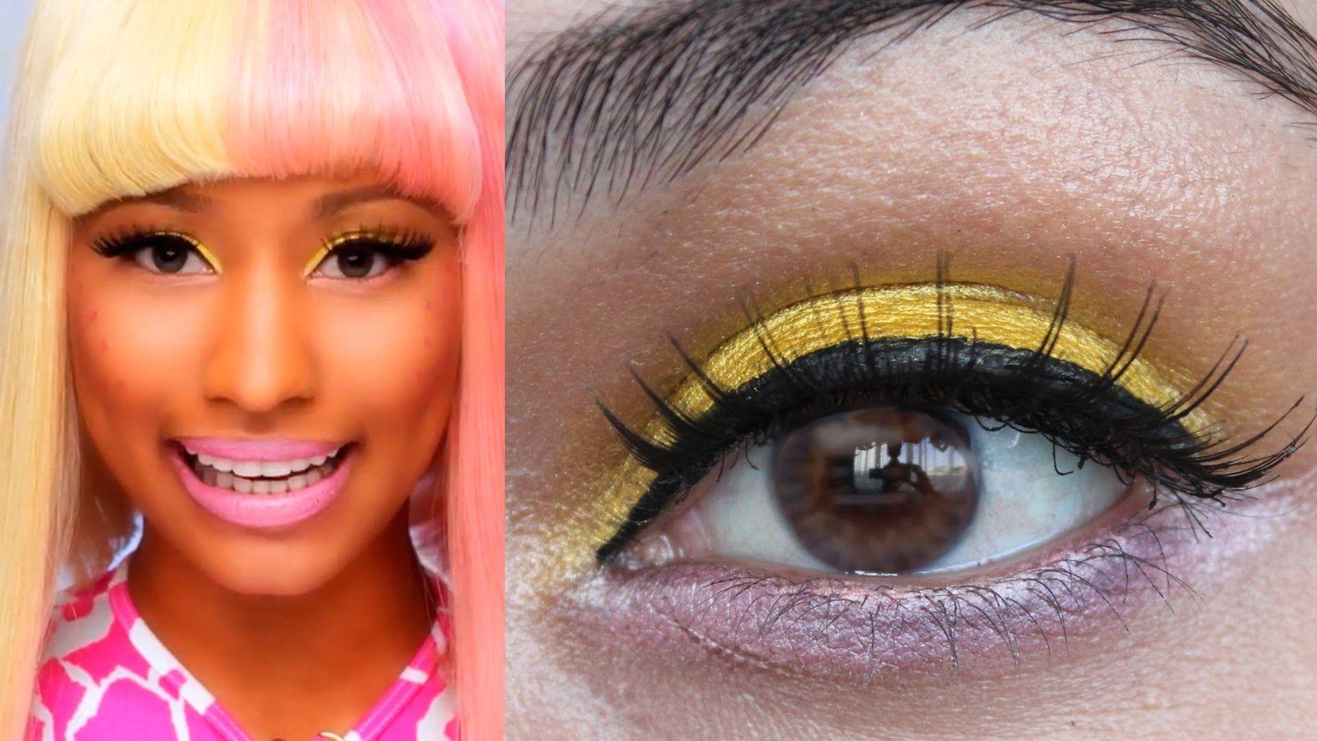Nicki Minaj Super Bass Makeup Tutorial Yellow/Pink