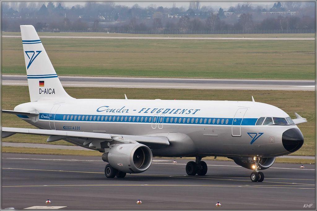 Airbus A320 Condor Flugdienst retrojet at Dusseldorf