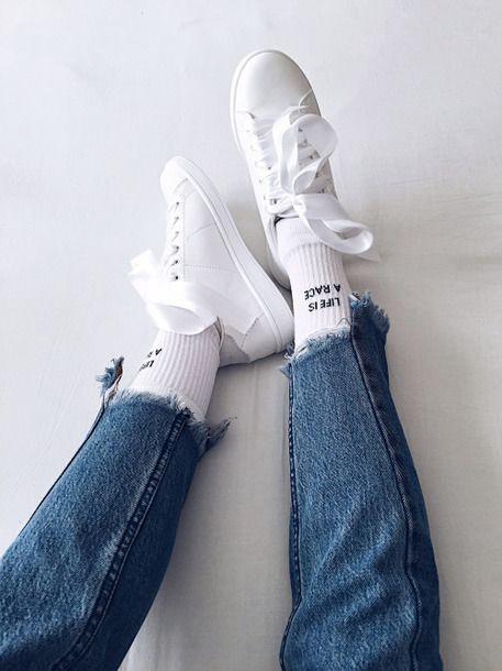 White sneakers, Girls sneakers, Sneakers
