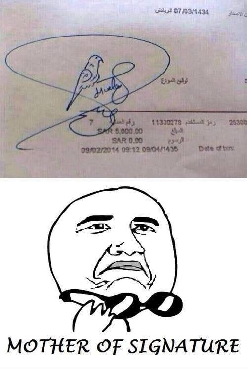 I didnt bother to come up with a signature when I had to and to this day I just write my name…