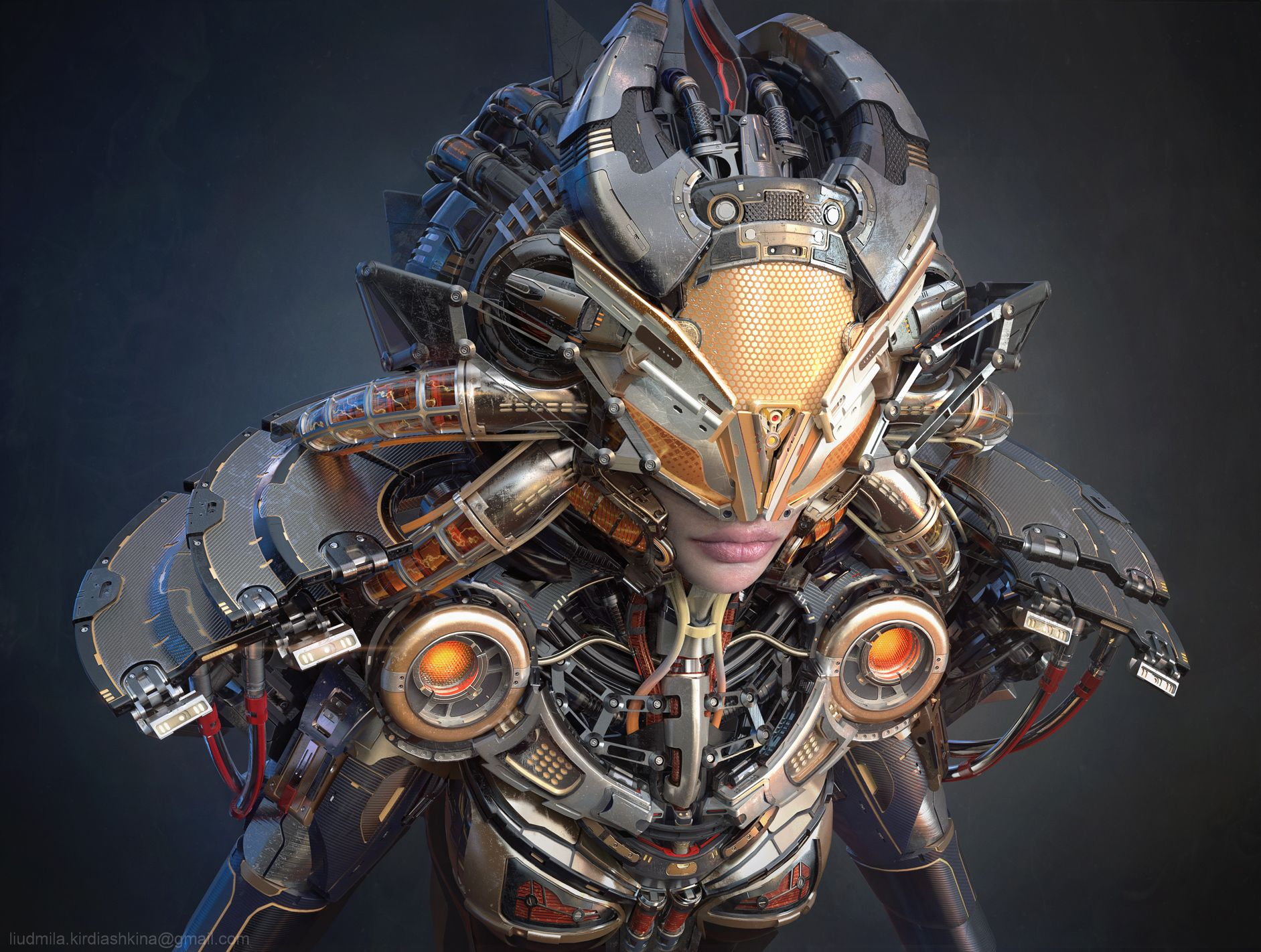 Hawk suit by Liudmila Kirdiashkina   Robotic/Cyborg   3D   CGSociety