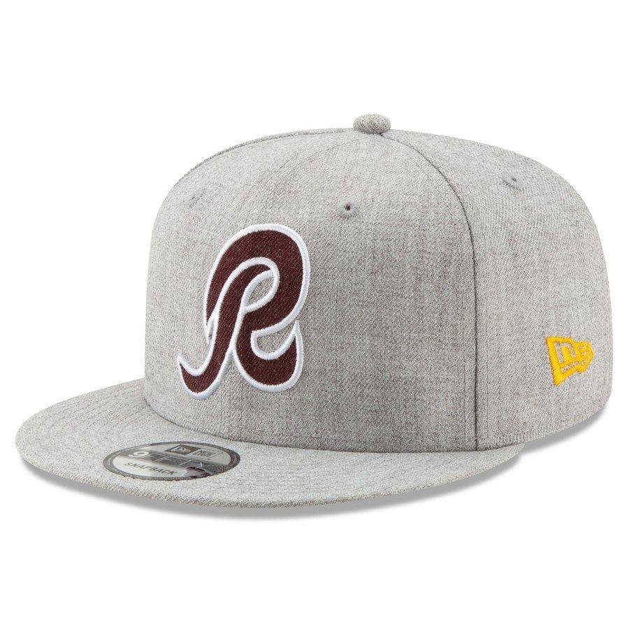 da33a76c3b878 Men s Washington Redskins New Era Heathered Gray Hype 2 9FIFTY Adjustable  Snapback Hat