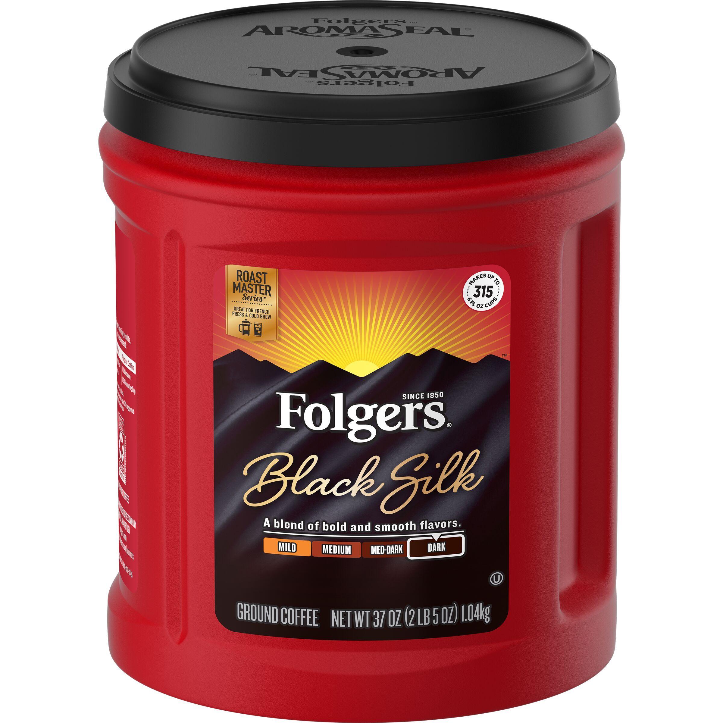 Folgers Black Silk Ground Coffee, 37Ounce