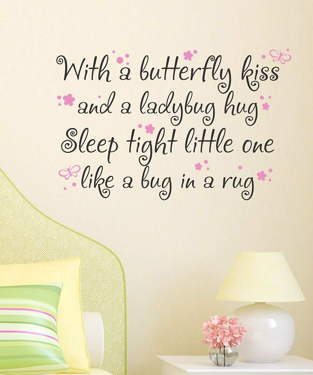 Butterfly Kiss Wall Quote  Wall Quotes, Inspirational -4866
