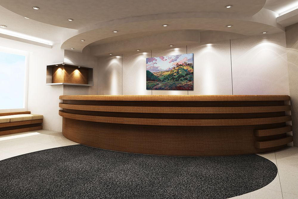 nyc law office interior design with erin hanson artwork our