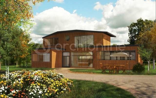 Nous vous proposons cette maison en bois originale et lumineuse