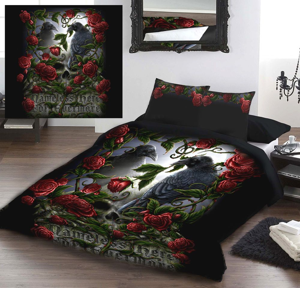 Forevermore Duvet Cover Set By Linda M Jones Available In 2 Sizes Gothic Bett Ideen Bettwäsche