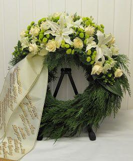begravningskrans med band