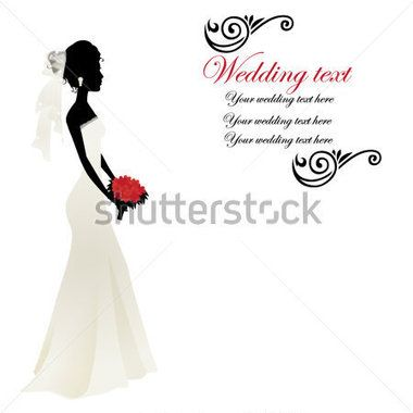 Silhueta DE Uma Mulher Em UM Vestido DE Noiva imagem vetorial - Clipart.me