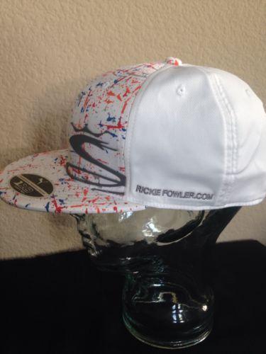 PUMA-Cobra-White-Split-Rickie-Fowler-Com-Tour-Cap-FLAT-BILL-CAP -Adjustsble-Smpl d57f875712e