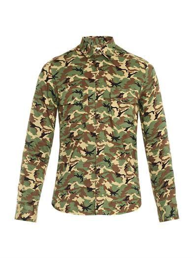 Camouflage-print shirt | Saint Laurent | MATCHESFASHION.COM