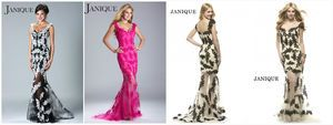 V neck straps Lace prom gown evening dress #1344