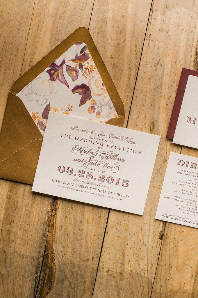 GABRIELLE Suite STYLED Floral Package Letterpresses Wedding