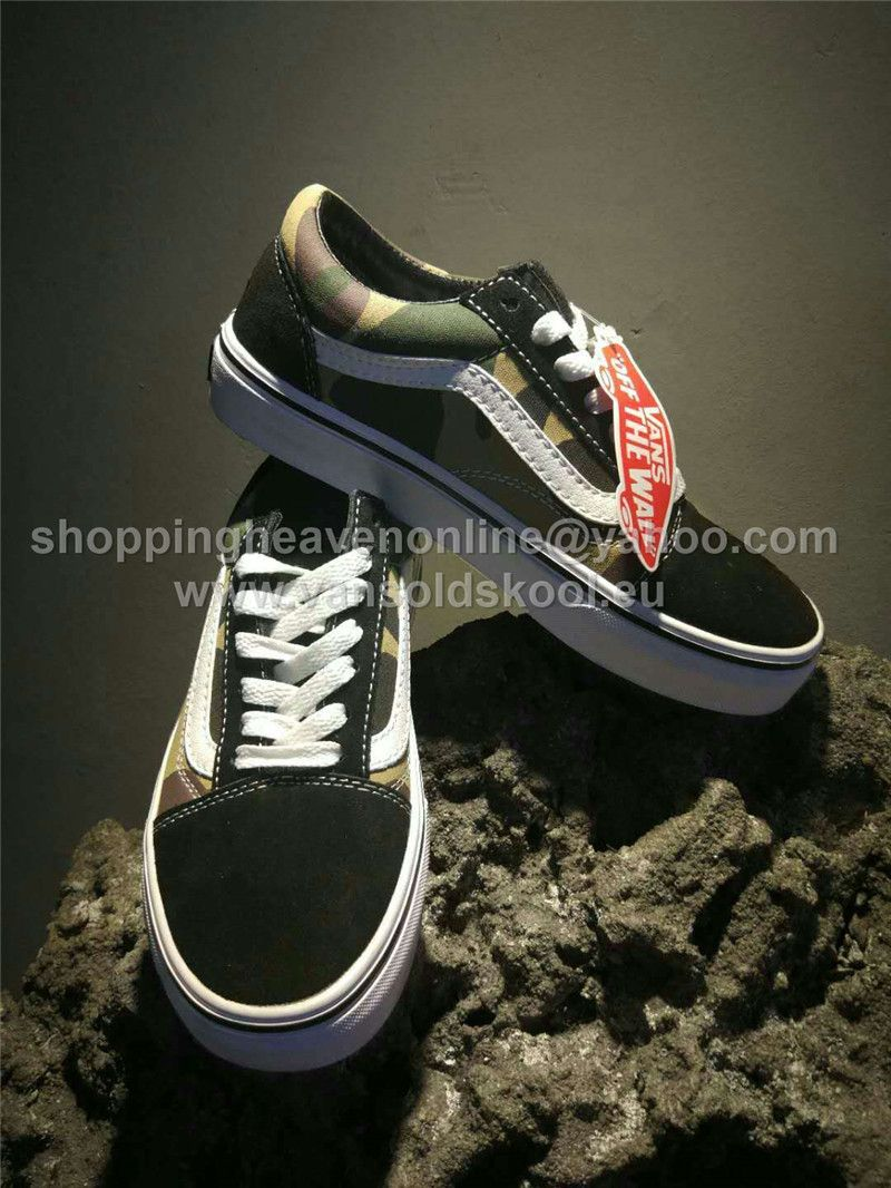 d293594817 2017 Vans Old Skool Camo Low Skateboard Shoes OG05 http   www.vansoldskool