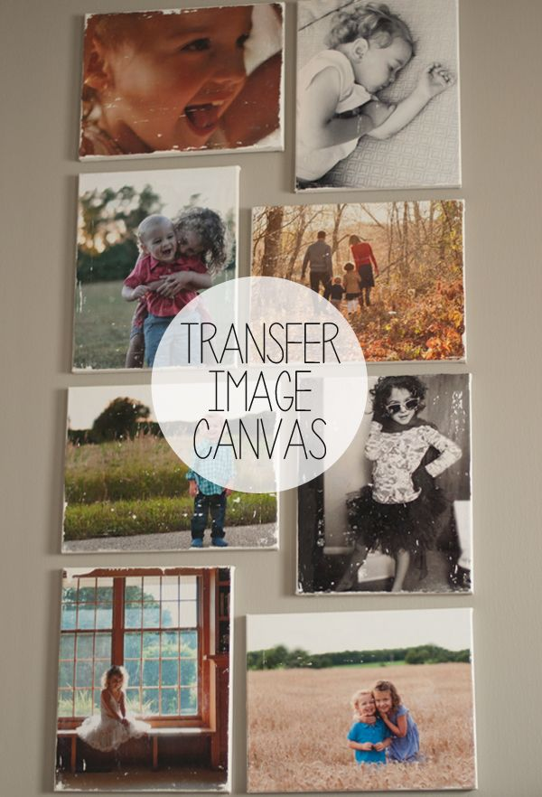 Transfer Image Canvases | Canvas photo transfer, Transfer ...