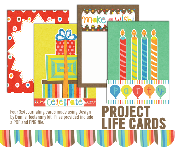 Birthday Cards Printable Freebie For Project Life