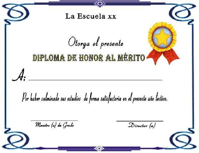 Diplomas para imprimir gratis Microsoft Pinterest Diplomas - certificado de reconocimiento para imprimir