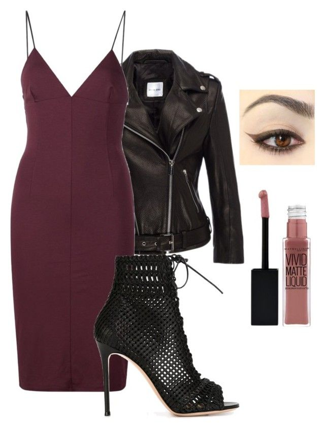 """""""Date night"""" by aer32114 on Polyvore featuring Anine Bing, T By Alexander Wang, Gianvito Rossi and Maybelline"""