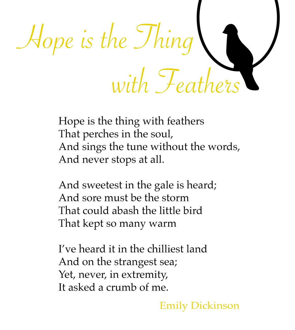 "Hope"" by Emily Dickinson 