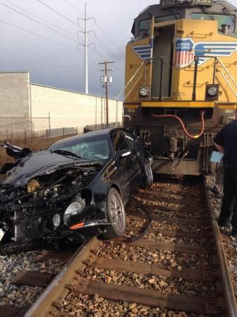 Incredible Police Chase Woman Train Hits Her Car Before Second