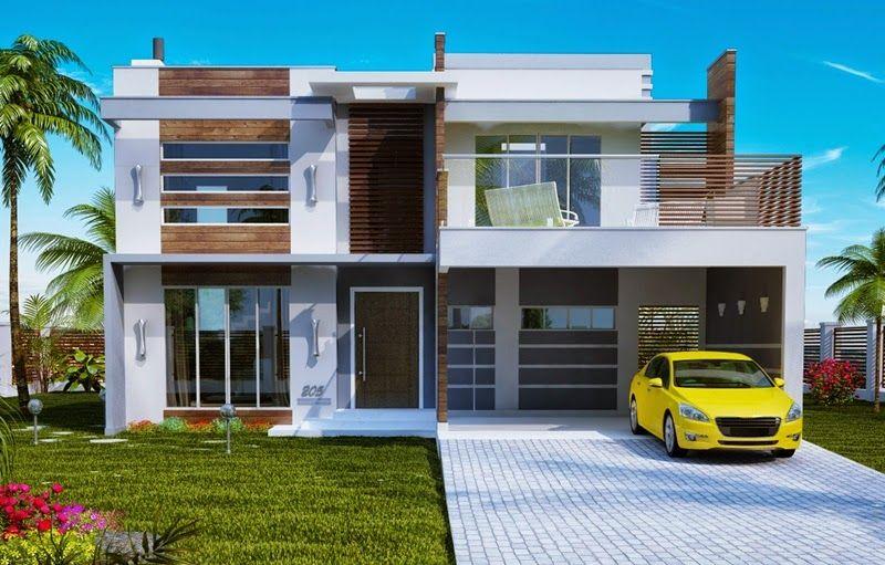 30 Fachadas De Casas Modernas E Cinza A Cor Do Momento Duplex