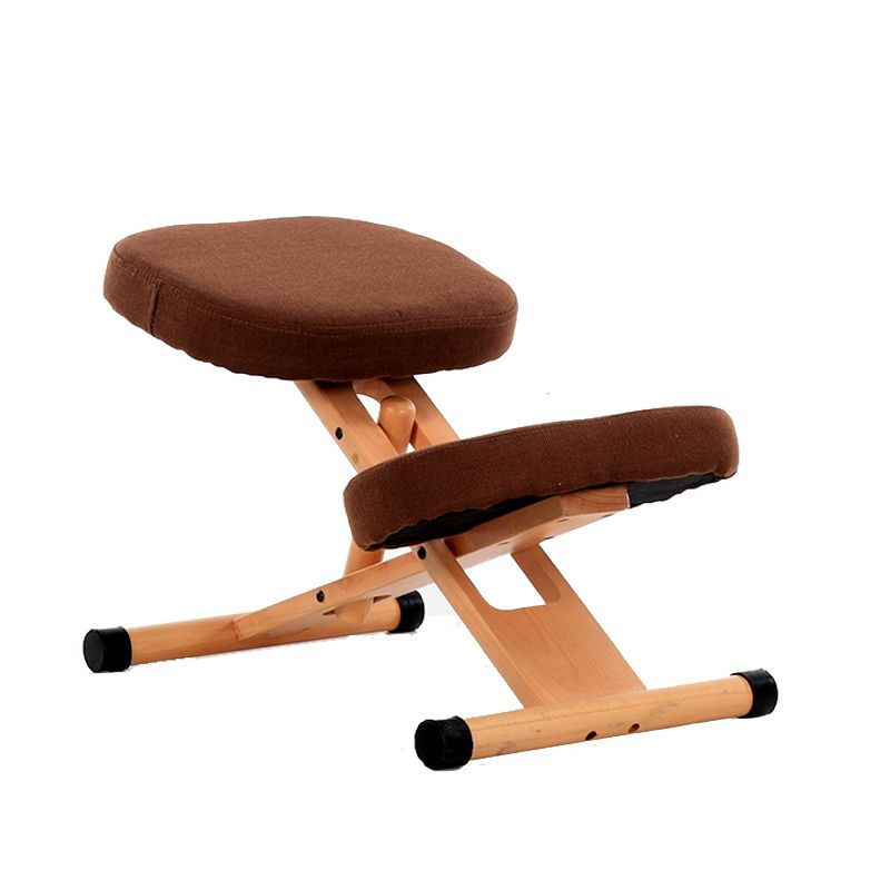 Ergonomic kneeling chair stool wood office posture support