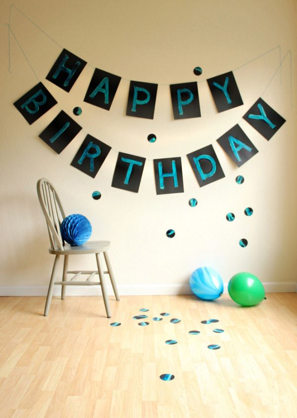how to make a giant painterly birthday banner