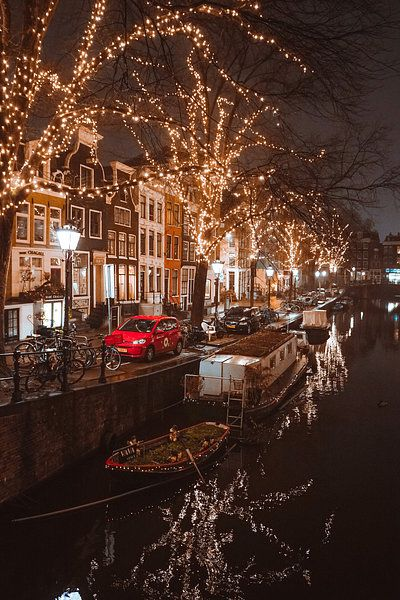 Kerstverlichting Op De Spiegelgracht Amsterdam Van Ali Celik In 2019