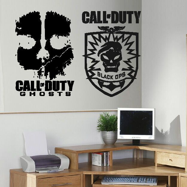 Large X Box Xbox One Ps 3 4 Call Of Duty Wall Art Sticker Transfer