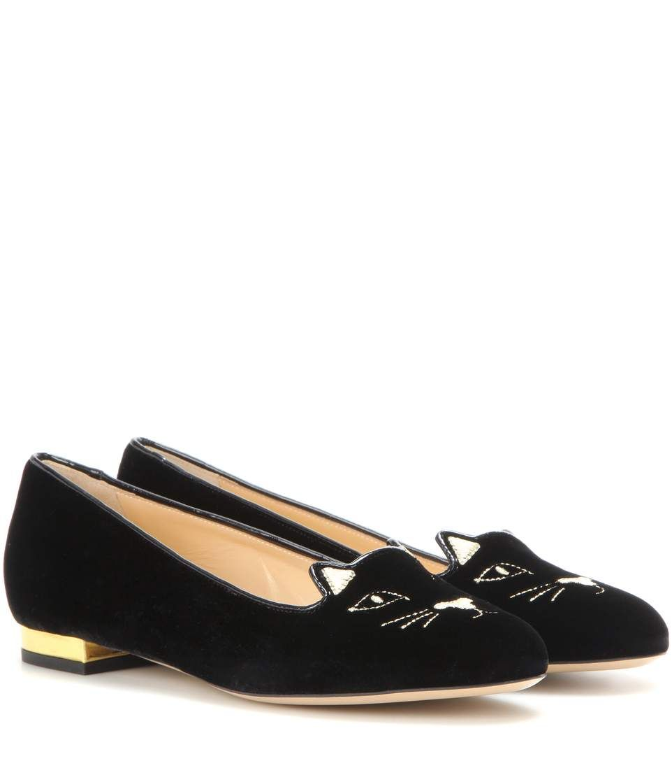 Nice Looking Womens Charlotte Olympia kitty Slippers New Arrival