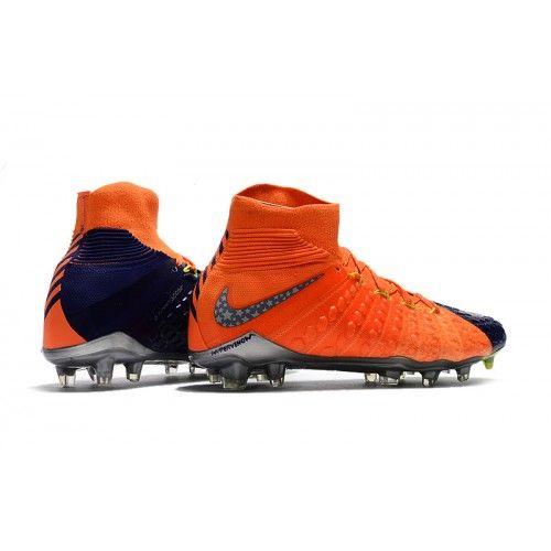 4852d7dcb37ec Nike Hypervenom - Best Nike Hypervenom Phantom III DF FG Blue Orange Soccer  Shoes