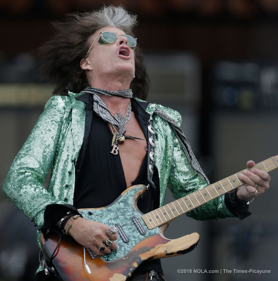 Joe Perry Of Aerosmith Performs On The Acura Stage During
