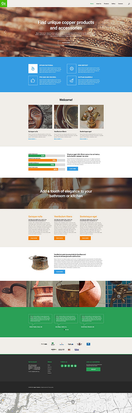 Industrial Most Popular Espresso Web Inspiration At Your Coffee Break Bootstrap Template 55624 Website Template Responsive Website Template Website Themes Templates