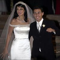 Marc Anthony And Dayanara Torres At Their Wedding In San Juan Before The Jennifer Lopez Incident