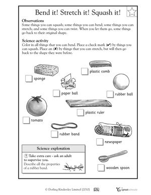 Reward Chart For Kids Science Worksheets Kindergarten Science