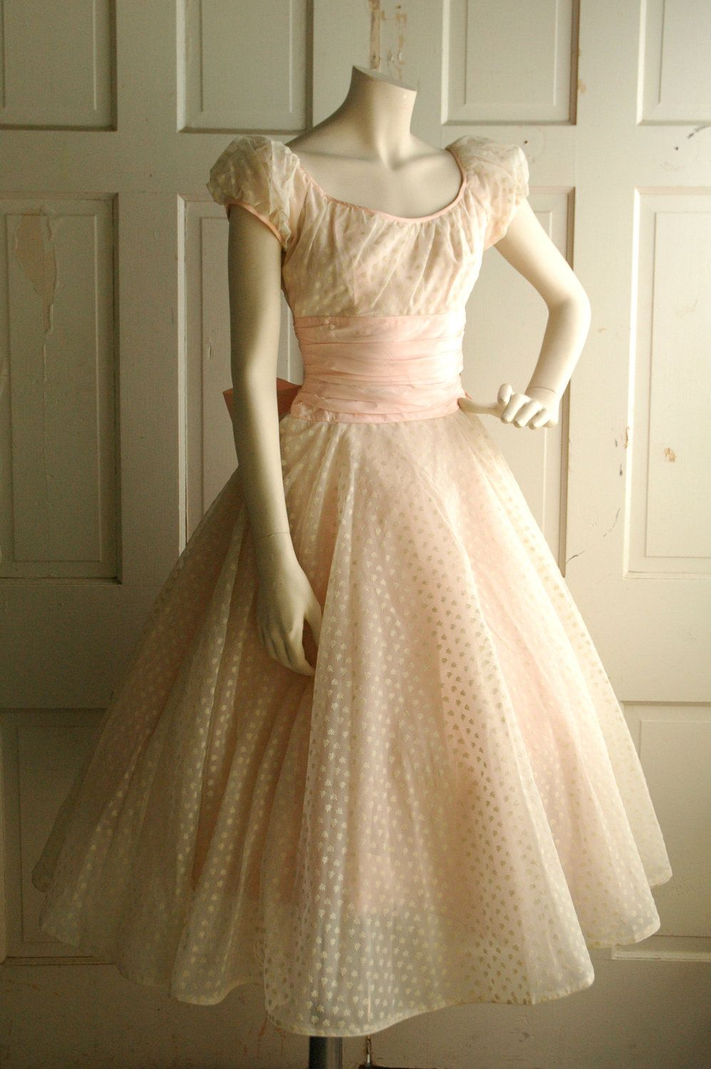 Full layered tea length skirt of three layers pale pink for Tulle skirt under wedding dress