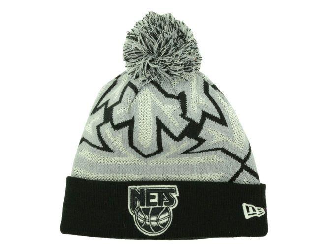77b84d8b03e8f3 New Jersey Nets New Era NBA HWC Glowflake Pom Knit Hats | clothes ...