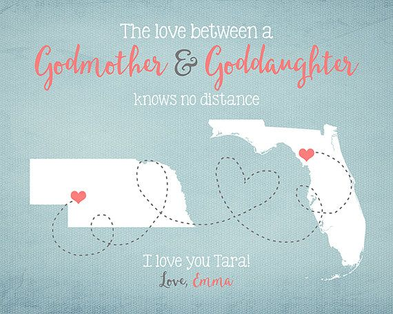 Godmother Gift Goddaughter Gift Long Distance Gift: Godmother, Goddaughter, Godson Gift