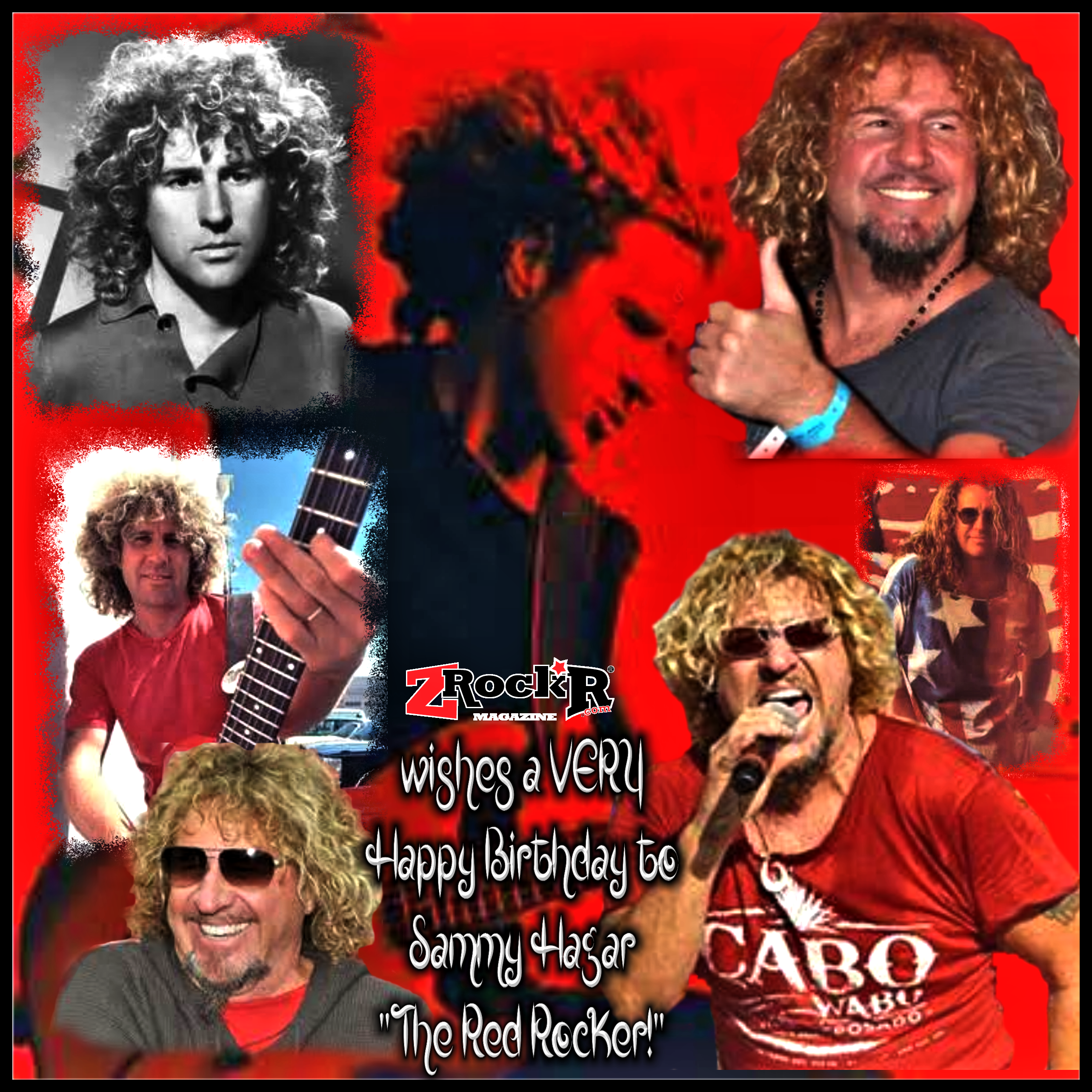 Sammy Hagar S Birthday Collage By Photoartist Lisakay Allen Passionfeast Birthday Collage Band Wallpapers Photo Posters