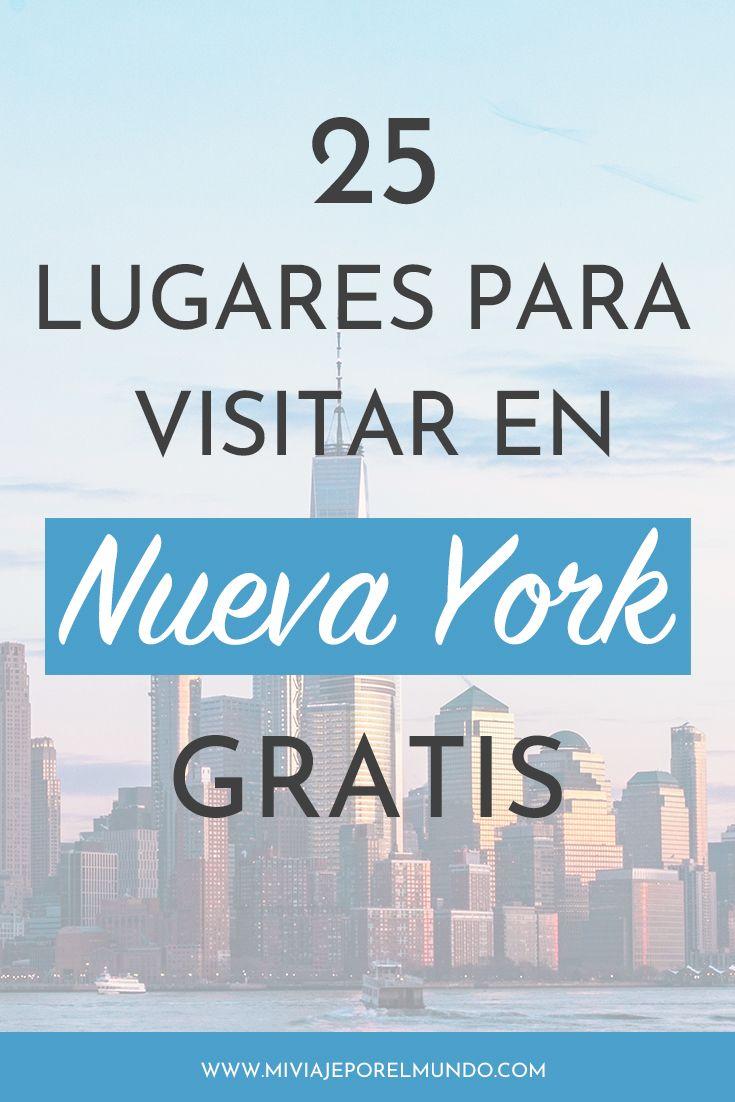 25 lugares para visitar en Nueva York gratis [Guía actualizada a 2020]