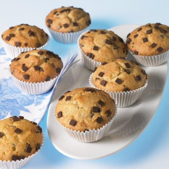 Muffins Mit Schokosplittern Rezept Schokoladen Muffins Rezept Muffins Mit Schokostuckchen Muffins Backen