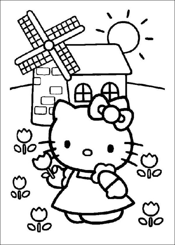 Free Printable Hello Kitty Coloring Pages Picture 16 550x770