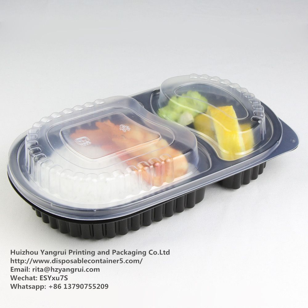 Food grade, 100% new material   2 compartment Disposable