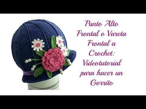 Gorro a crochet con flores para niñas, ¡patrón gratis! | Knitting ...