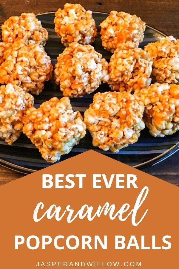 Caramel Popcorn Balls - Quick And Easy Treat You Need To Make #popcornballs