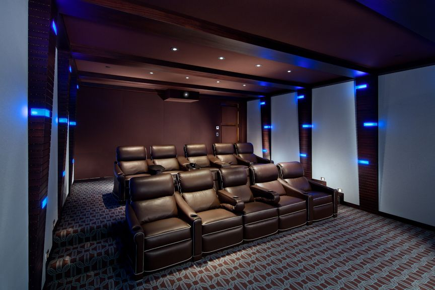 Modern-Whimsical Home Theater