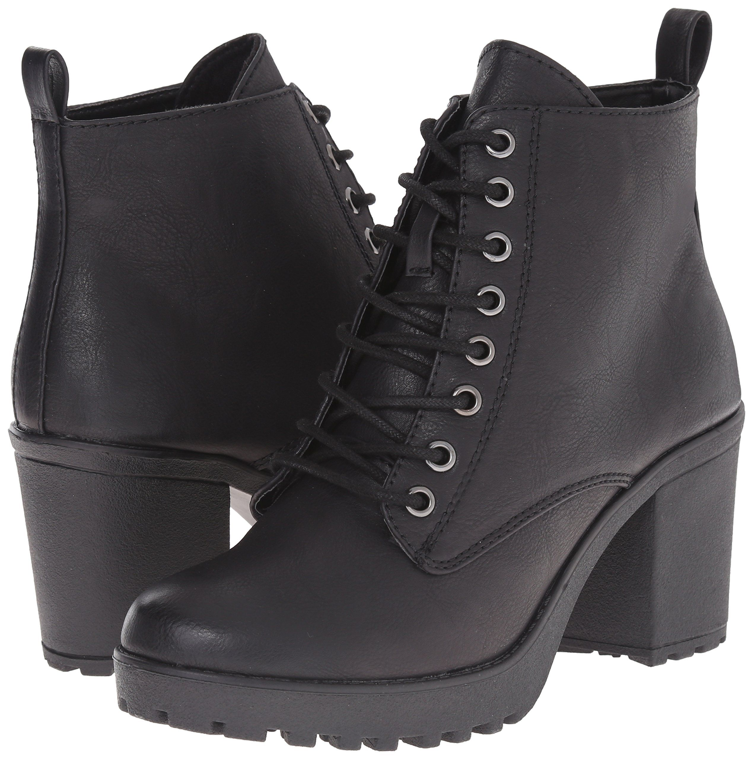 Amazon.com | MIA Women's Kat Combat Boot, Black, 6.5 M US | Ankle & Bootie