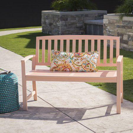 Furinno FG161167 Tioman Hardwood Patio Furniture Outdoor Bench in Teak Oil